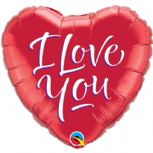 "I Love You Script Foil Balloon (9"" Air-Fill) 1pc"